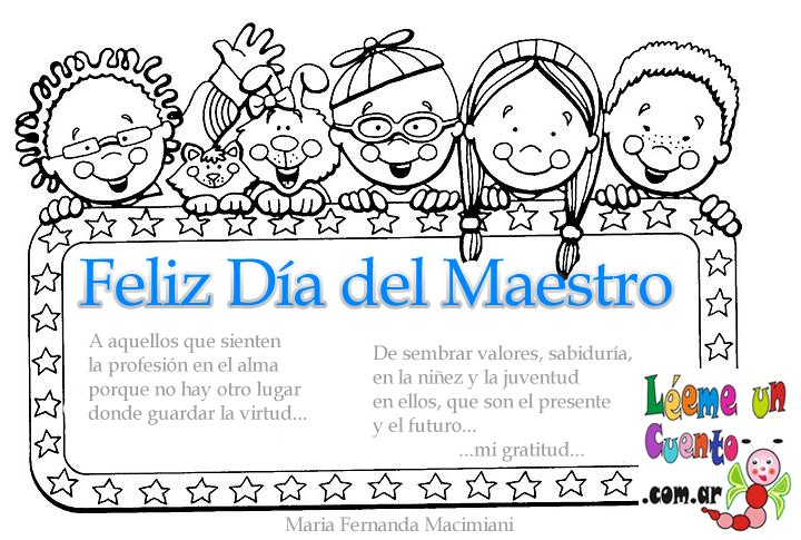 Feliz Dia del Maestro | Mi Maestra de Primaria