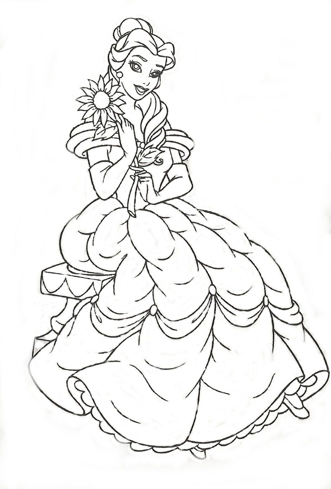 Dibujos para Colorear de Princesas | Mi Maestra de Primaria