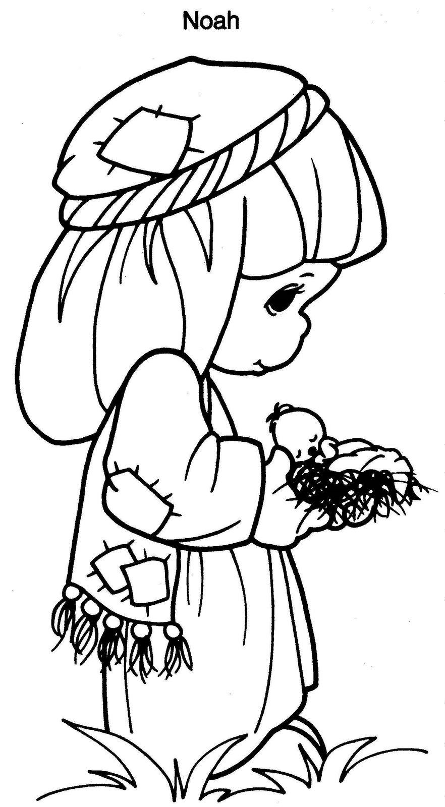 Precious moments para colorear mi maestra de primaria for Precious moments nativity scene coloring pages